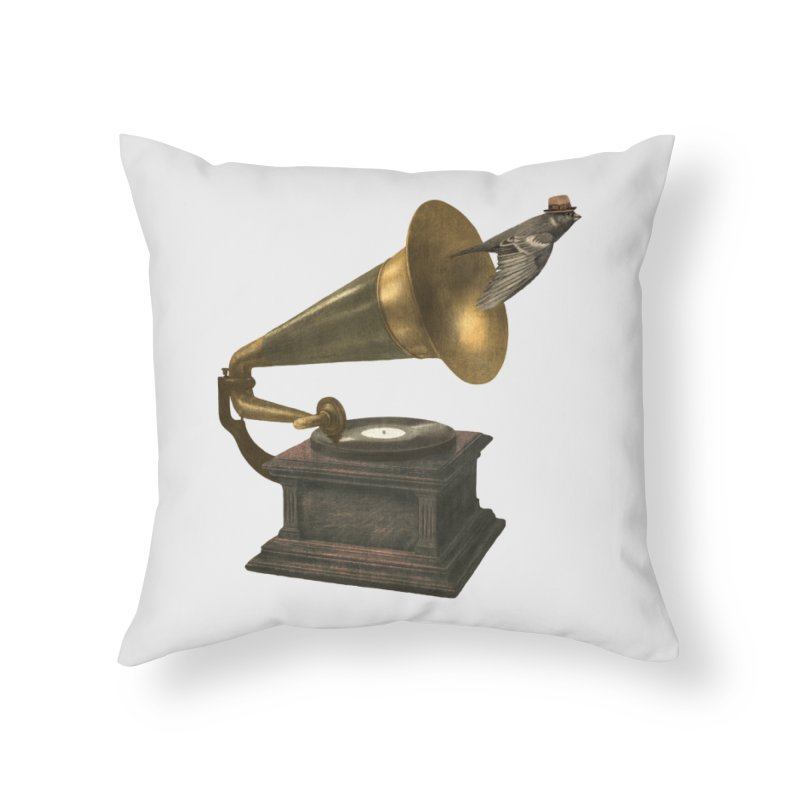 Vintage Songbird Home Throw Pillow by terryfan