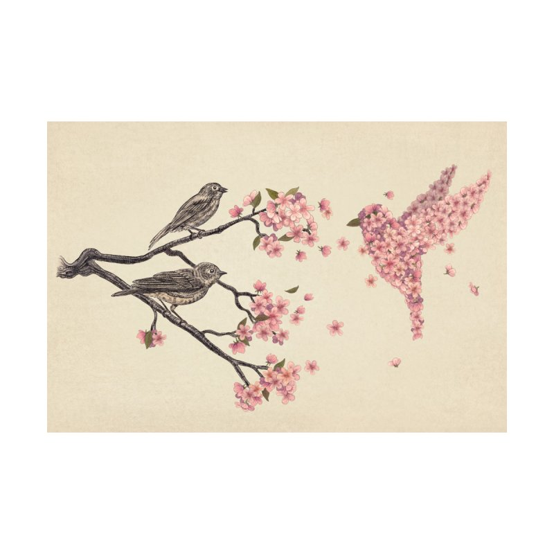 Blossom Bird Accessories Zip Pouch by terryfan