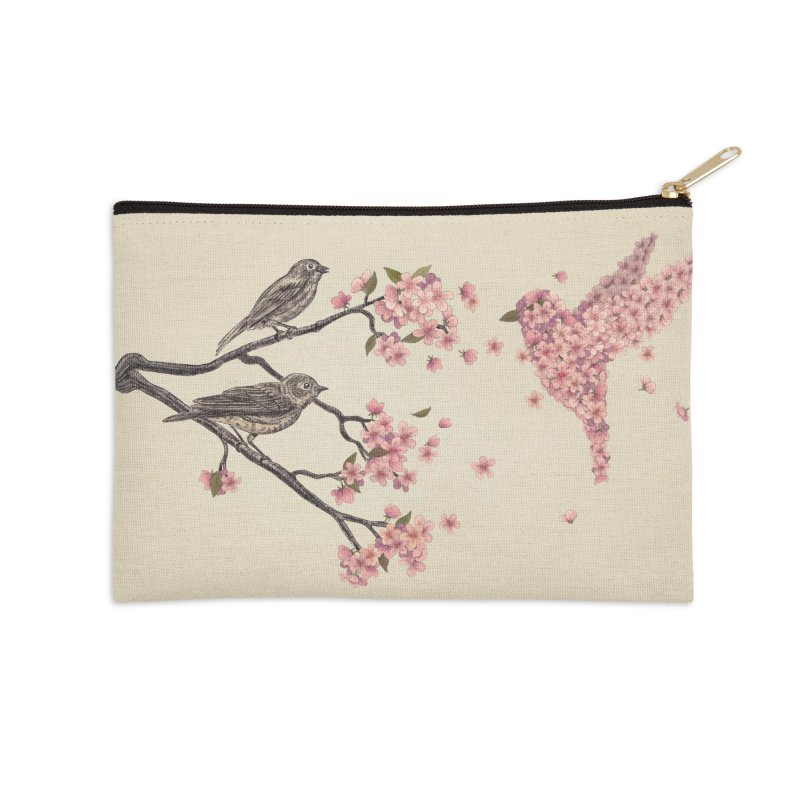 Blossom Bird in Zip Pouch by terryfan