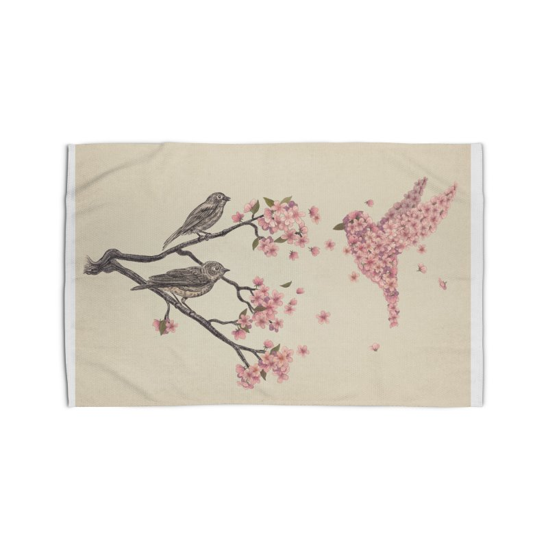 Blossom Bird Home Rug by terryfan