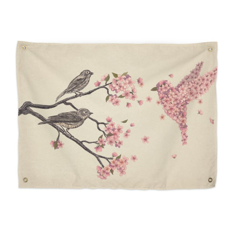 Blossom Bird Home Tapestry by terryfan