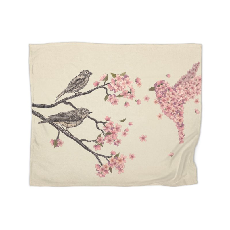 Blossom Bird Home Blanket by terryfan