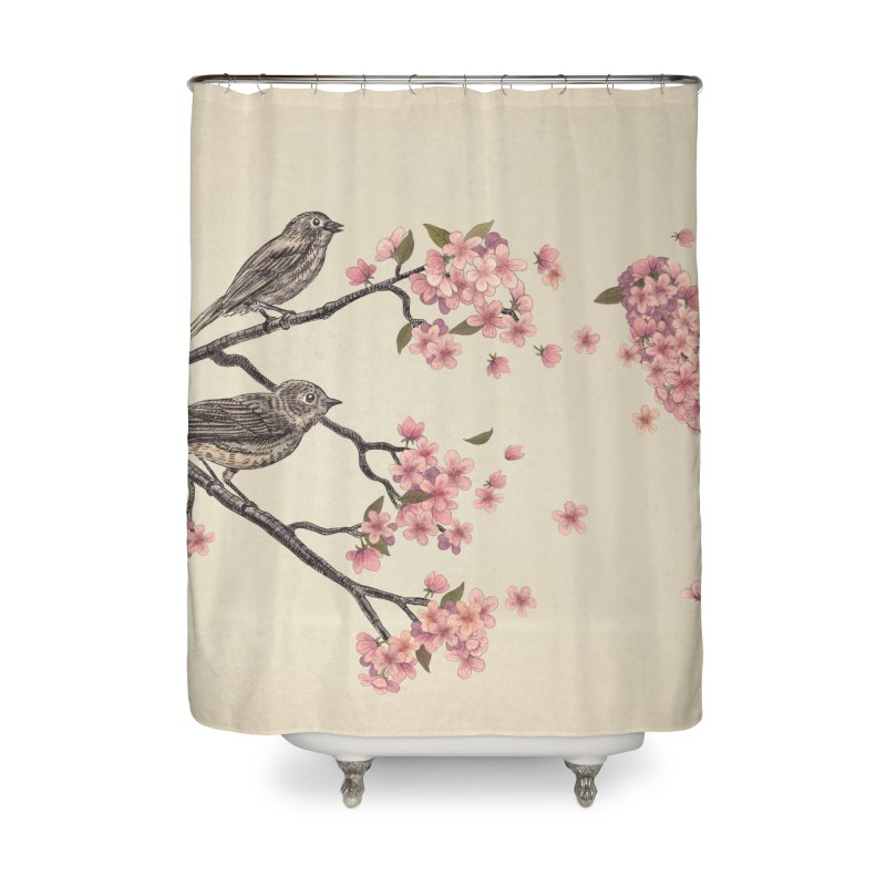 Blossom Bird Home Shower Curtain by terryfan