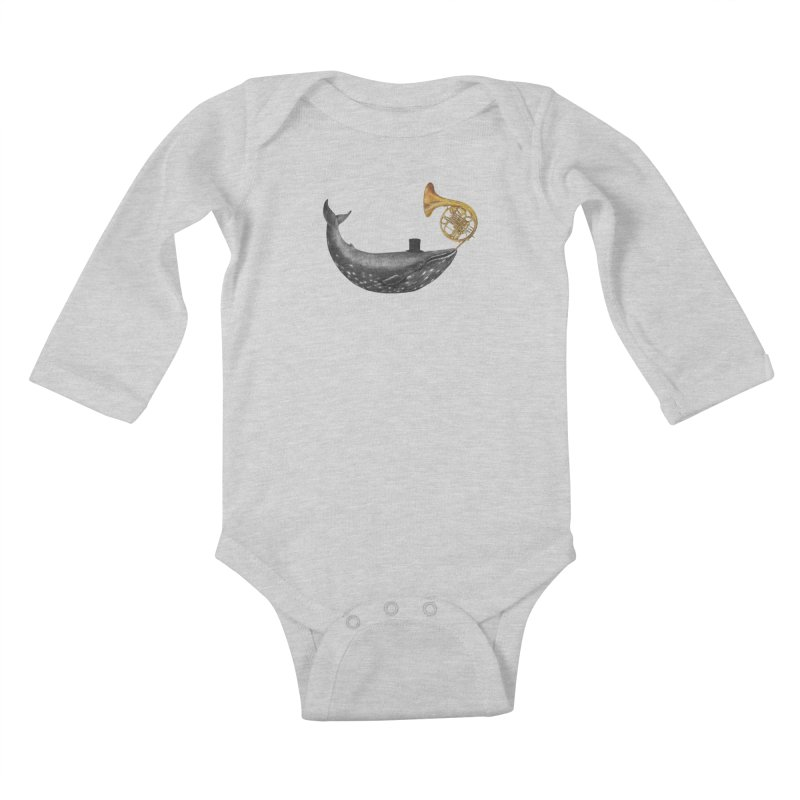 Whale Song Kids Baby Longsleeve Bodysuit by terryfan
