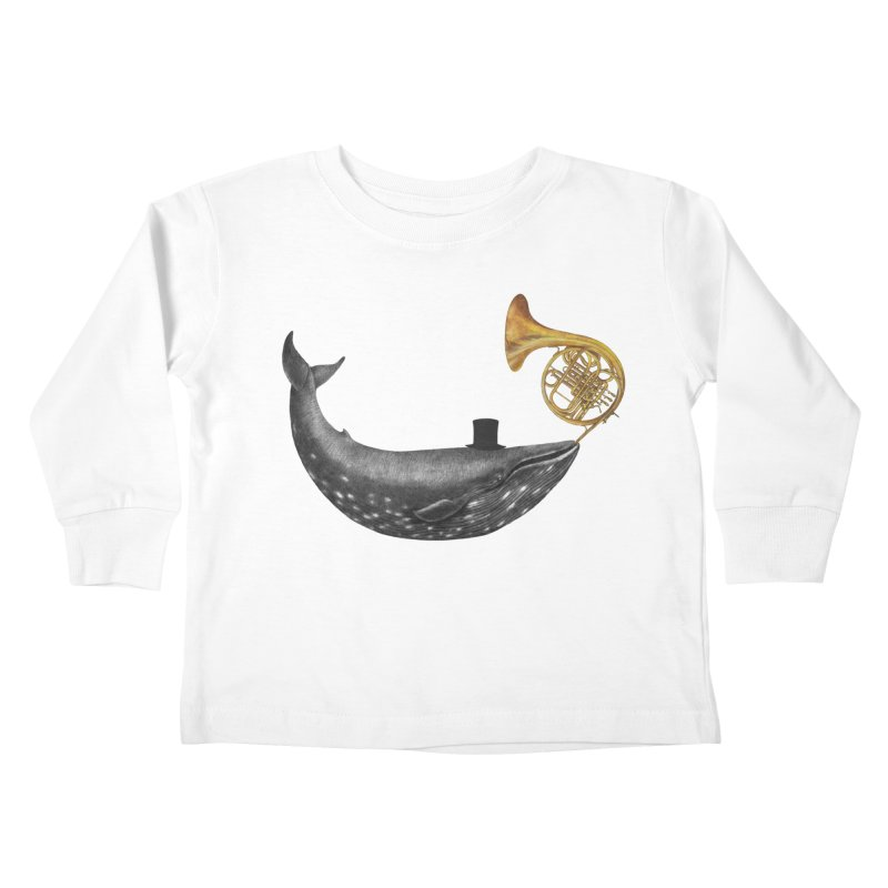 Whale Song Kids Toddler Longsleeve T-Shirt by terryfan