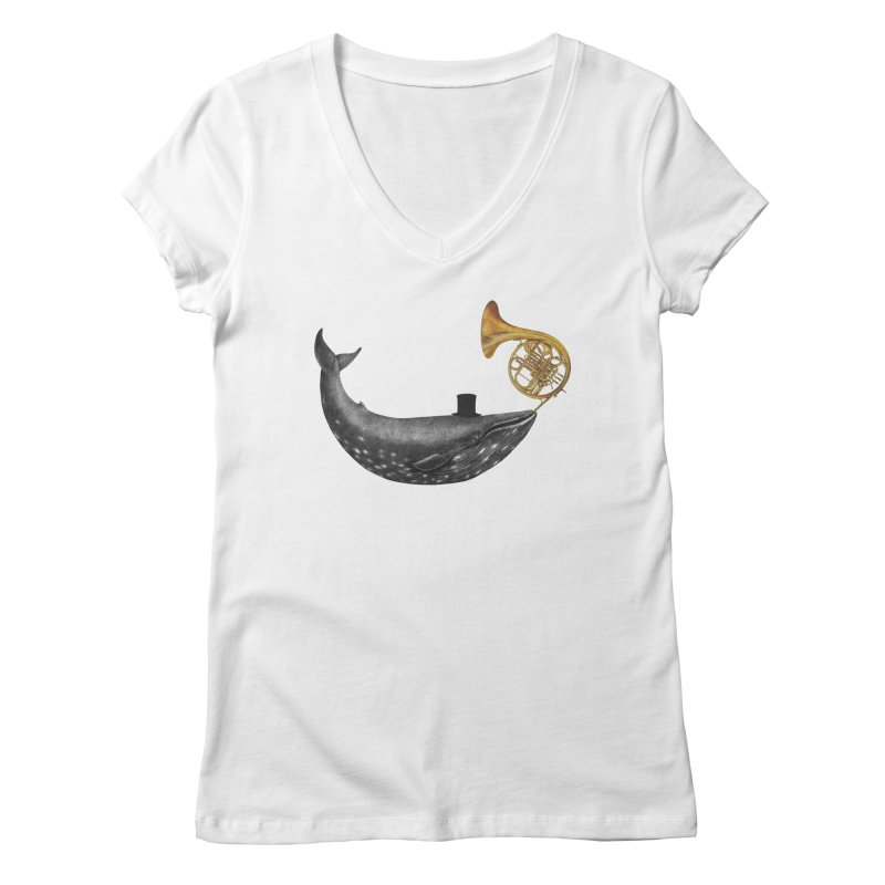 Whale Song Women's V-Neck by terryfan
