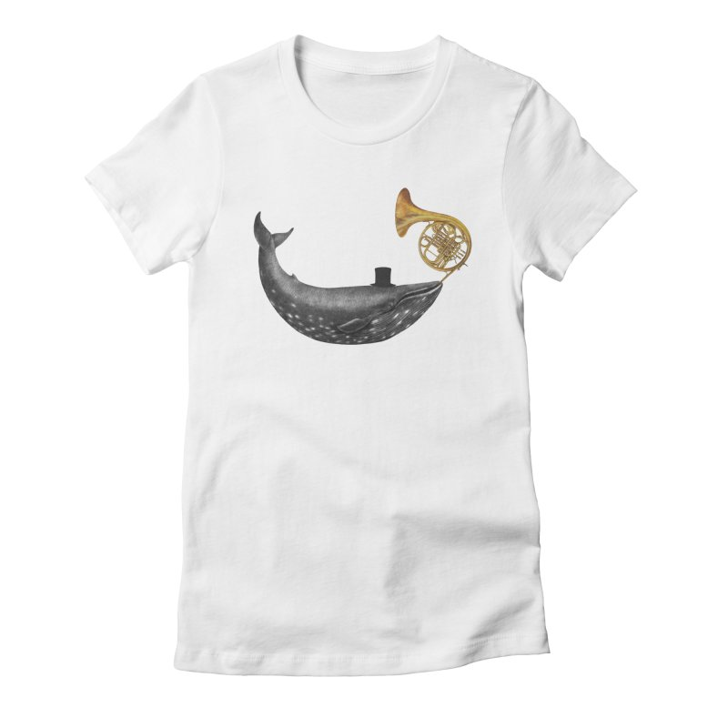Whale Song Women's Fitted T-Shirt by terryfan