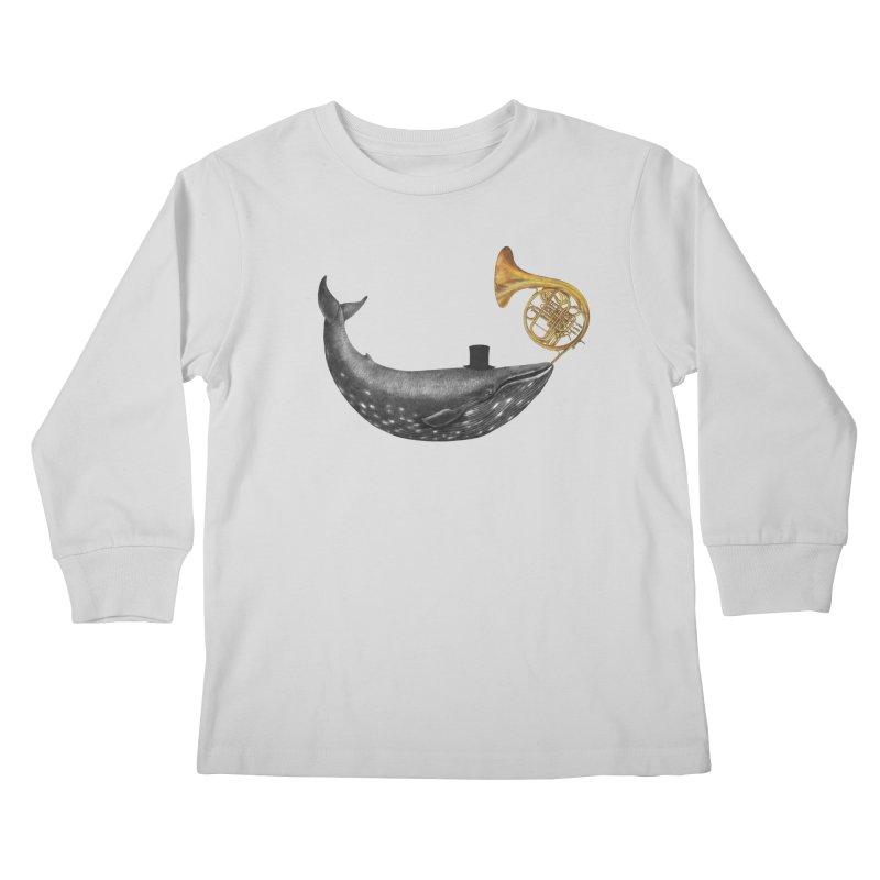Whale Song Kids Longsleeve T-Shirt by terryfan