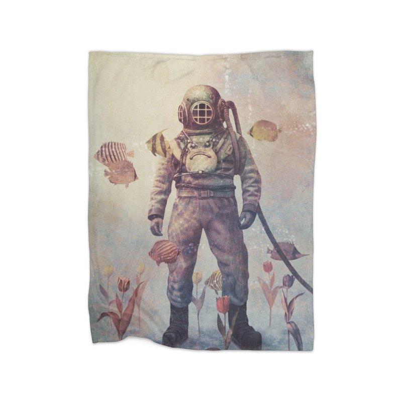 Deep Sea Garden Home Blanket by terryfan