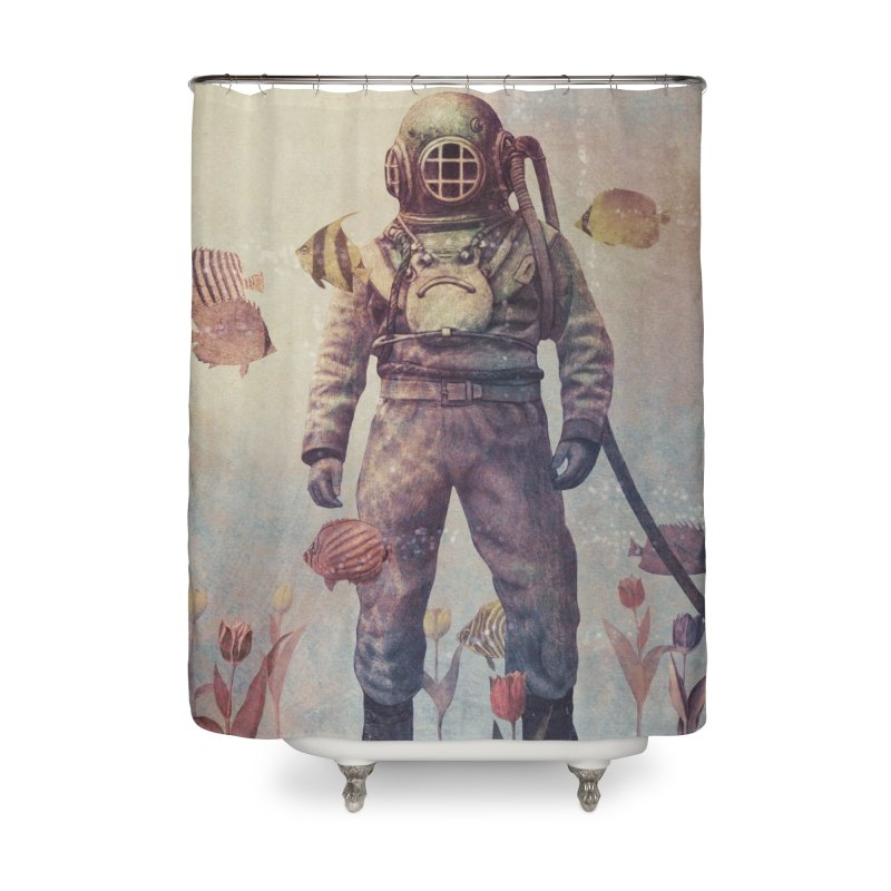 Deep Sea Garden in Shower Curtain by terryfan
