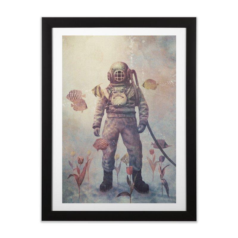 Deep Sea Garden Home Framed Fine Art Print by terryfan