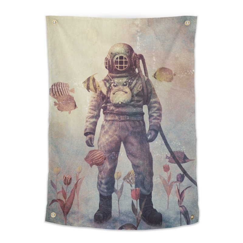 Deep Sea Garden Home Tapestry by terryfan