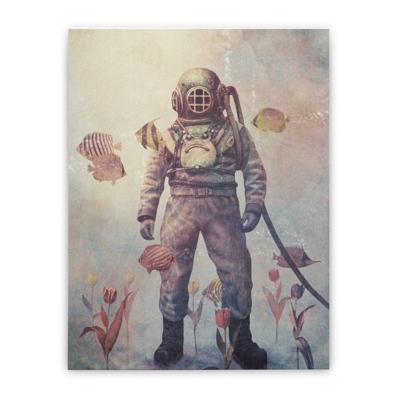 Deep Sea Garden Home Stretched Canvas by terryfan