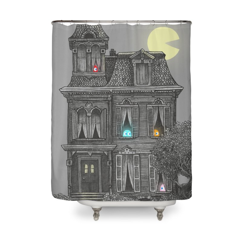 Haunted by the 80's Home Shower Curtain by terryfan
