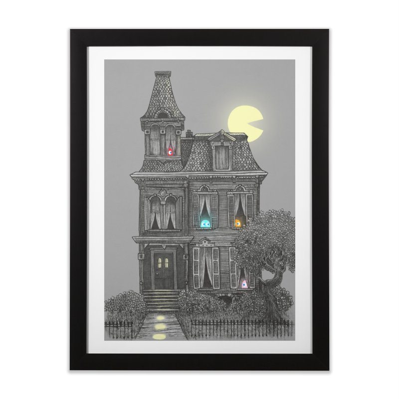Haunted by the 80's in Framed Fine Art Print Black by terryfan