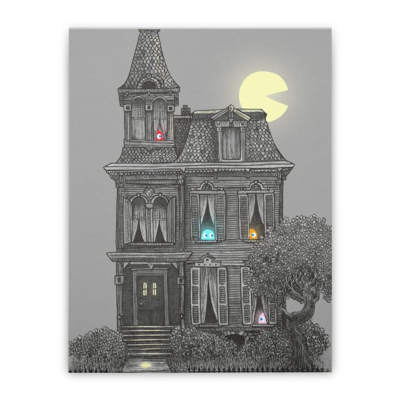 Haunted by the 80's Home Stretched Canvas by terryfan