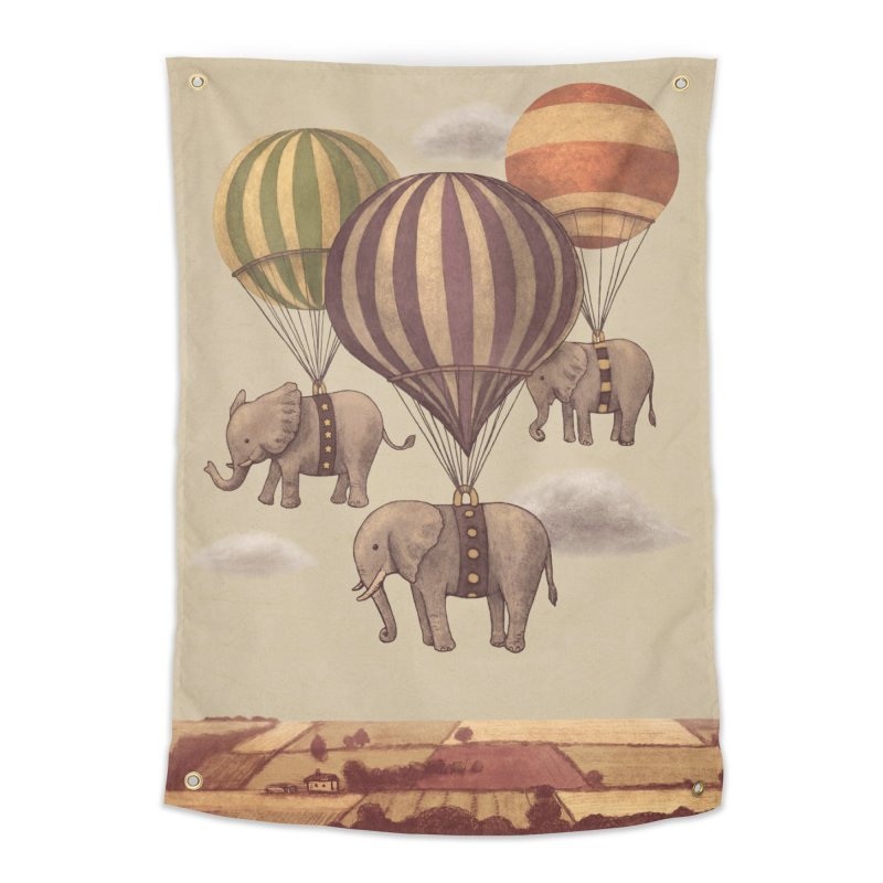 Flight of the Elephant Home Tapestry by terryfan