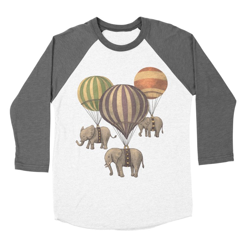 Flight of the Elephant Men's Baseball Triblend T-Shirt by terryfan