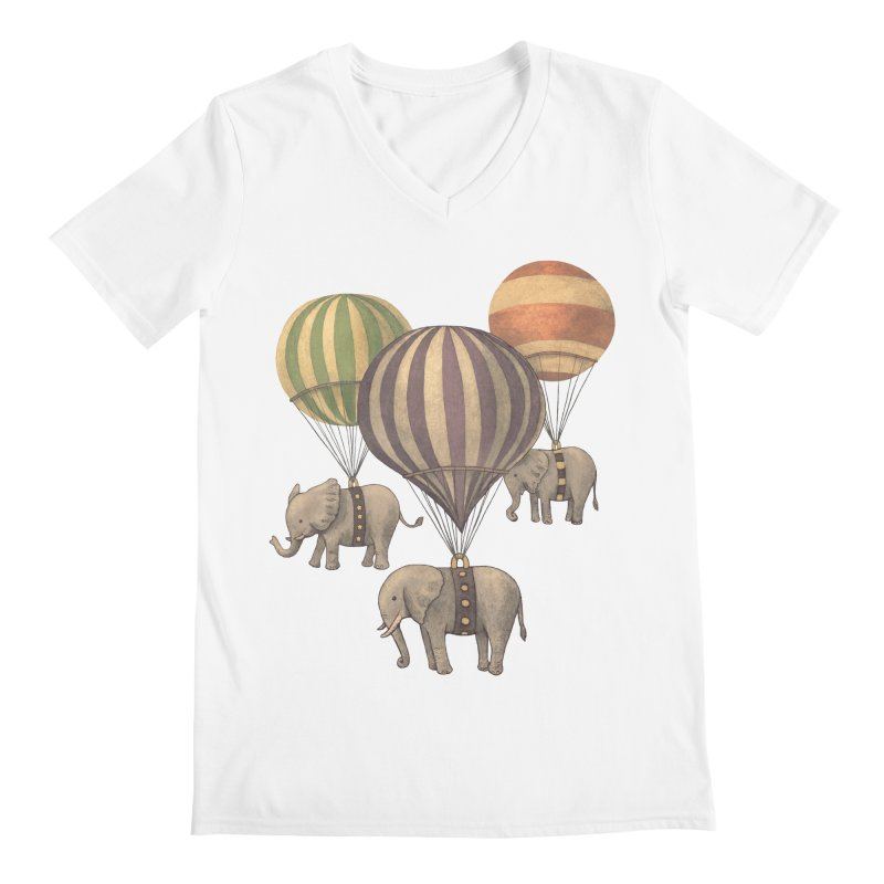 Flight of the Elephant Men's V-Neck by terryfan