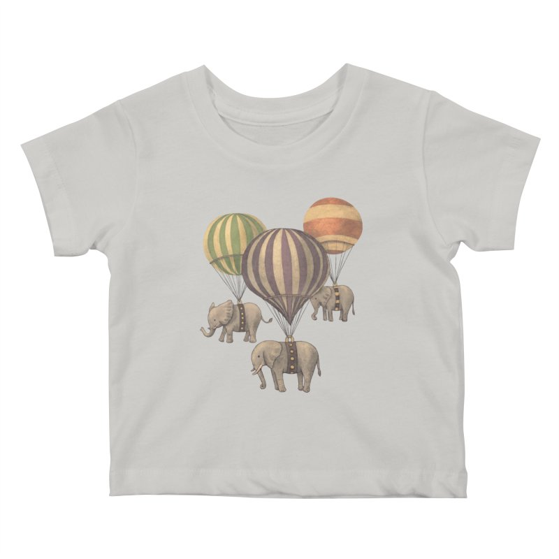 Flight of the Elephant Kids Baby T-Shirt by terryfan