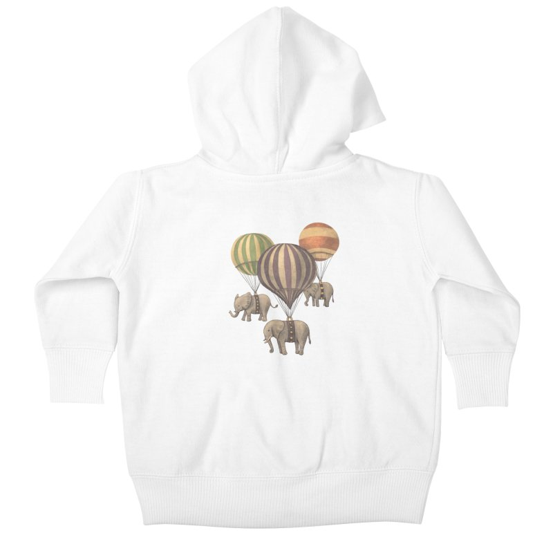 Flight of the Elephant Kids Baby Zip-Up Hoody by terryfan