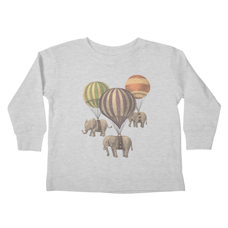 Flight of the Elephant Kids Toddler Longsleeve T-Shirt by terryfan