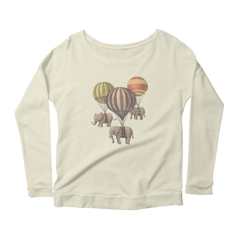 Flight of the Elephant Women's Longsleeve Scoopneck  by terryfan
