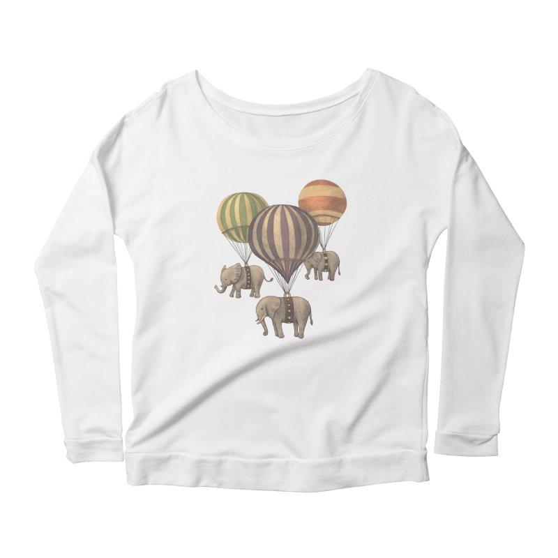 Flight of the Elephant Women's Scoop Neck Longsleeve T-Shirt by terryfan