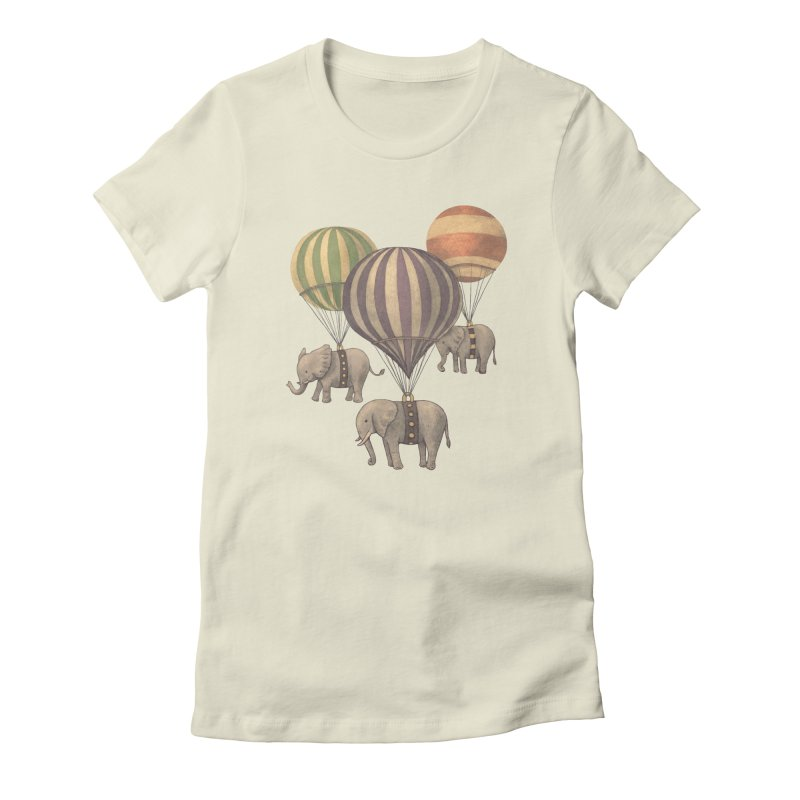 Flight of the Elephant Women's Fitted T-Shirt by terryfan