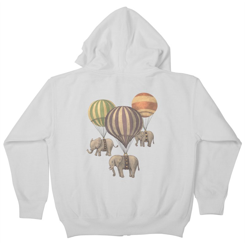 Flight of the Elephant Kids Zip-Up Hoody by terryfan
