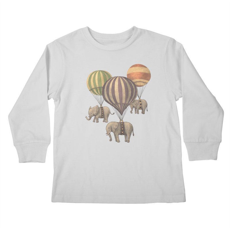Flight of the Elephant Kids Longsleeve T-Shirt by terryfan