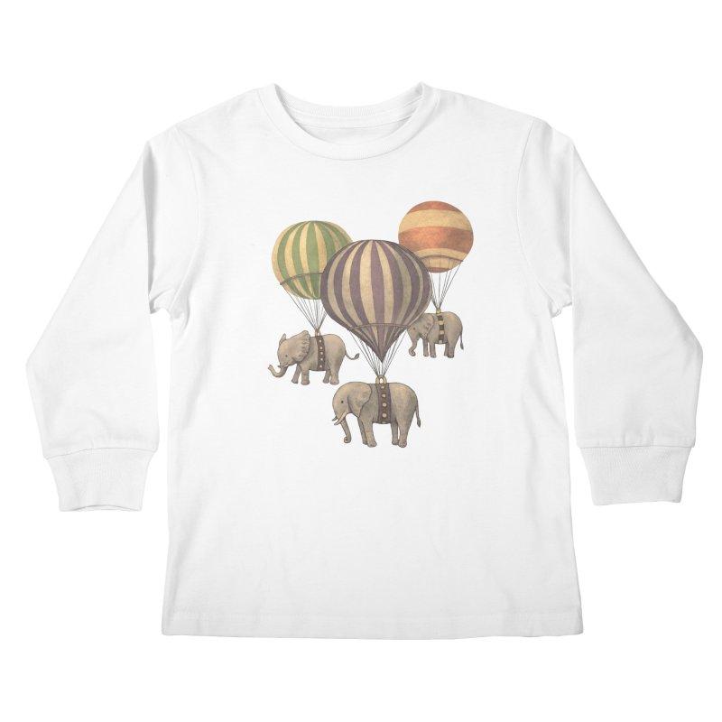 Flight of the Elephant Kids Longsleeve T-Shirt by terryfan