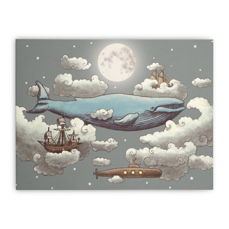 Ocean Meets Sky Home Stretched Canvas by terryfan