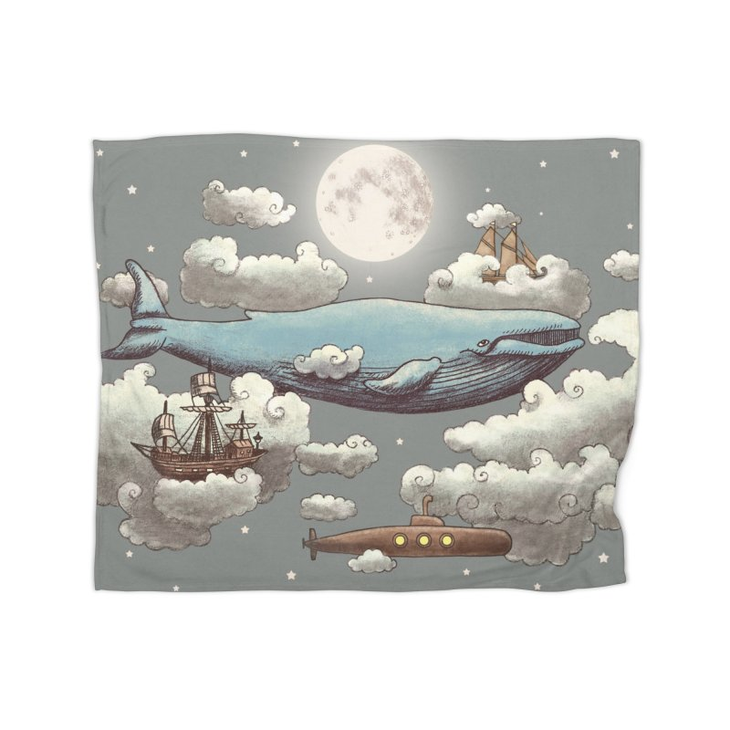 Ocean Meets Sky in Fleece Blanket Blanket by terryfan