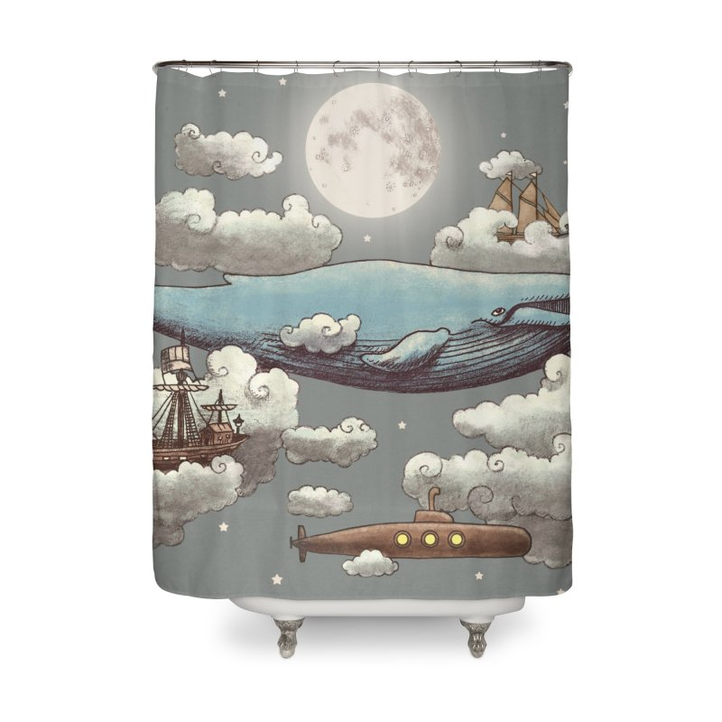 Ocean Meets Sky Home Shower Curtain by terryfan