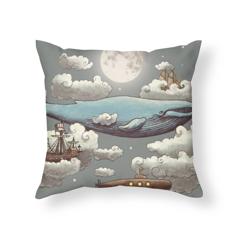 Ocean Meets Sky Home Throw Pillow by terryfan
