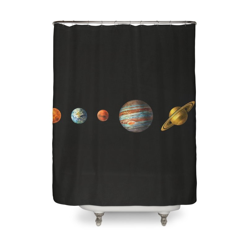 Solar System Home Shower Curtain by terryfan