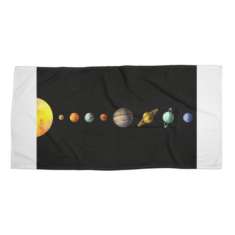 Solar System Accessories Beach Towel by terryfan
