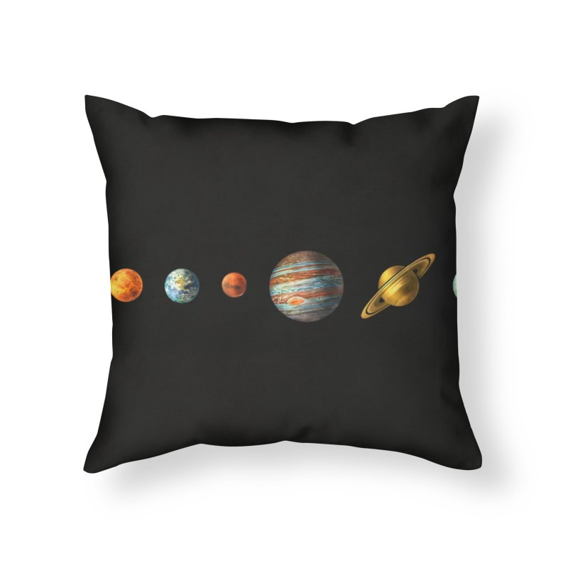 Solar System Home Throw Pillow by terryfan