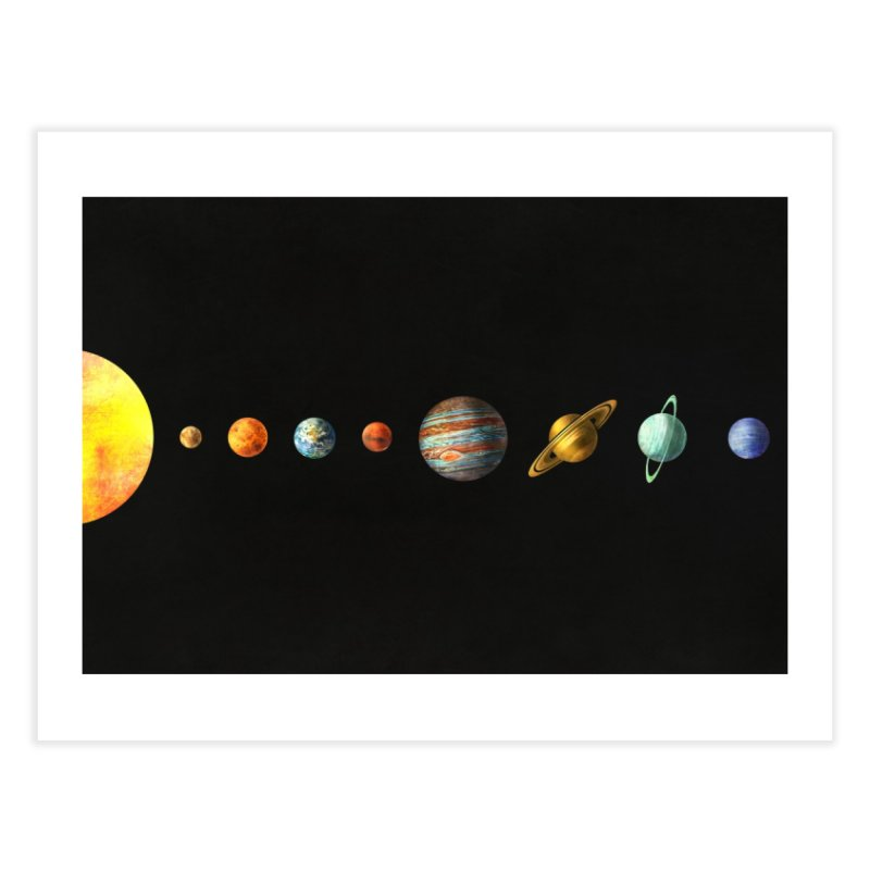 Solar System Home Fine Art Print by terryfan
