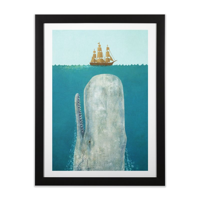 The Whale in Framed Fine Art Print Black by terryfan