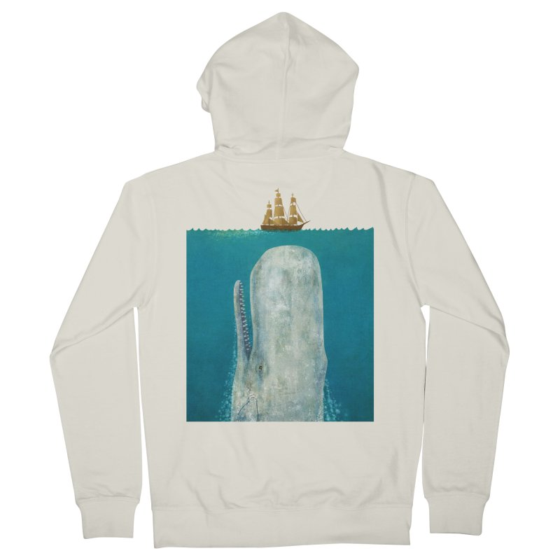The Whale Men's Zip-Up Hoody by terryfan