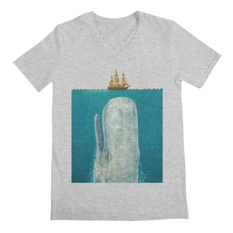 The Whale Men's V-Neck by terryfan
