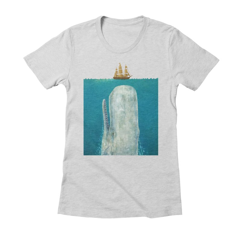 The Whale Women's Fitted T-Shirt by terryfan