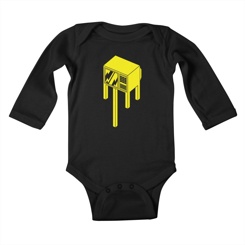 Idiot Box Kids Baby Longsleeve Bodysuit by Shop TerryMakesStuff