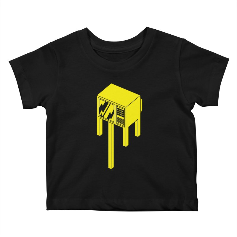 Idiot Box Kids Baby T-Shirt by Shop TerryMakesStuff
