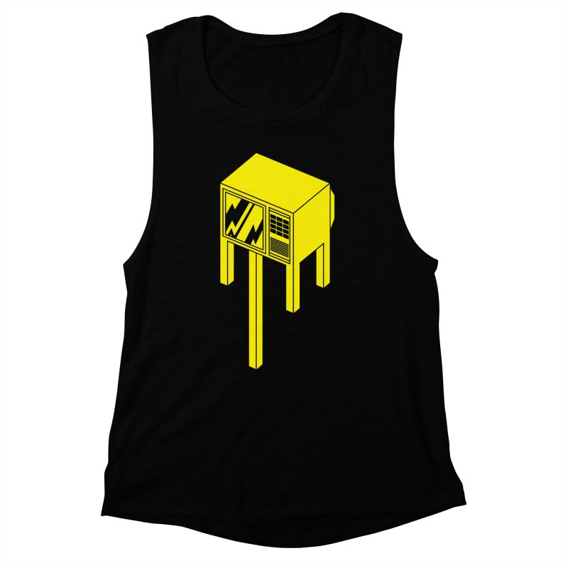 Idiot Box Women's Muscle Tank by Shop TerryMakesStuff