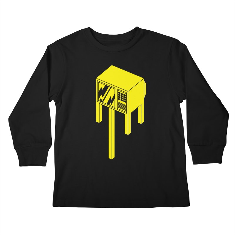 Idiot Box Kids Longsleeve T-Shirt by Shop TerryMakesStuff