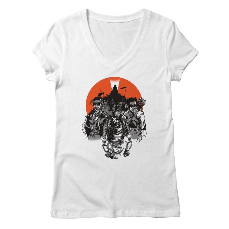 Shogun Women's V-Neck by Shop TerryMakesStuff