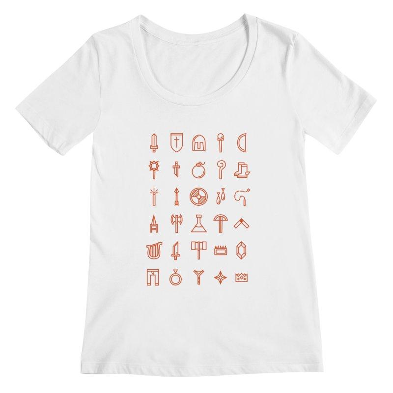 Inventory Women's Scoopneck by Shop TerryMakesStuff